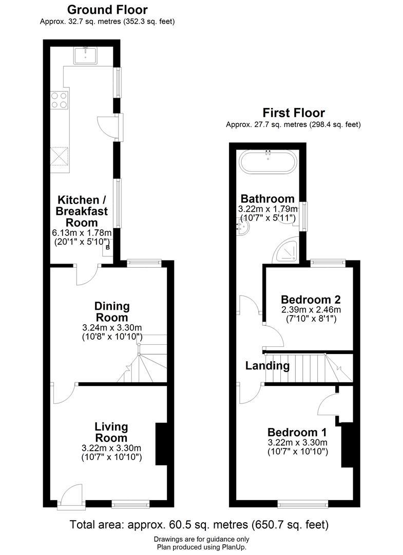 Floor plan Sturton Street, Cambridge